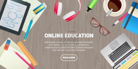 Flat design illustration concept for education