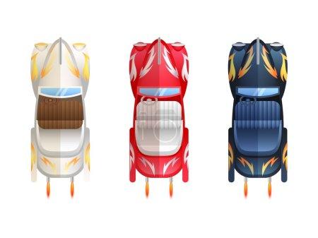 Retro Flat Cars Cabriolet Top