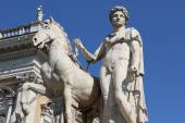 Pollux statue at the entrance of the Capitoline Hill in Rome