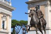 Capitoline Hill and the statue of Marcus Aurelius