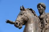 The statue of Marcus Aurelius in Rome