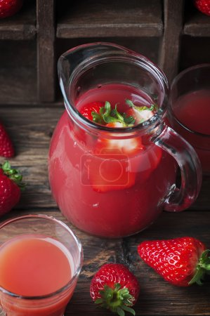 Sweet delicious strawberry juice