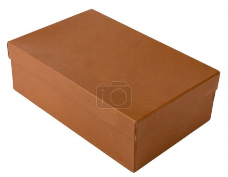 Brown shoe box, isolated