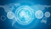 Prázdný kruh rámce. mapa světa jako pozadí
