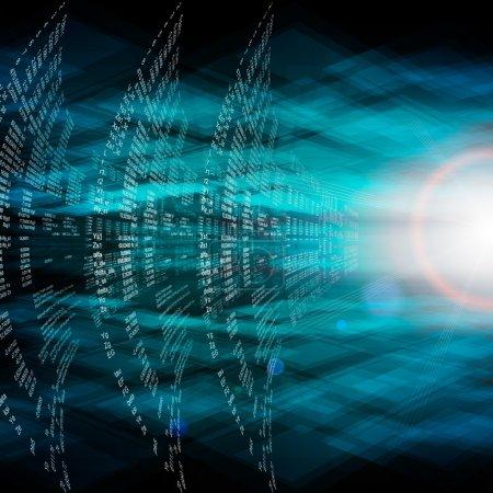 Digital abstract bits data stream, cyber pattern