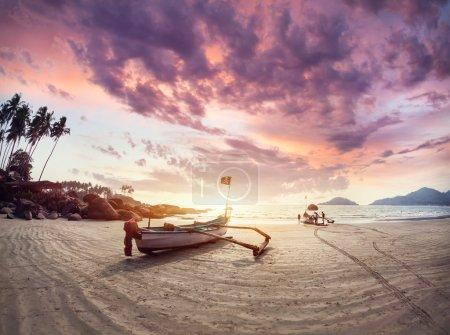 Beautiful Sunset at Goa beach