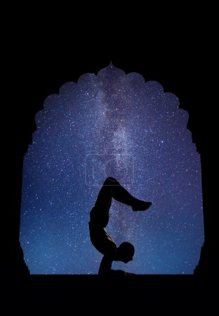 Yoga at night