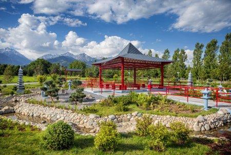 Japanese garden in Almaty