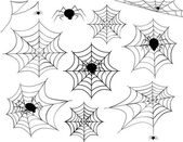 Collection of different spider webs and different spiders including corner spider webs hanging spiders and a variety of other spider webs