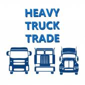 vector illustration design banner for hevy truck automobile
