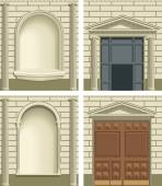 Classic exterior facade elements