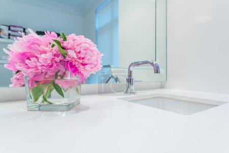 Interior design of a luxury bathroom