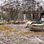 Постер, плакат: Abandoned amusement park in Pripyat ghost town Chernobyl Nuclea