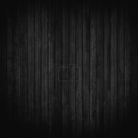 Black wood wall background