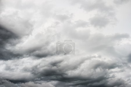 Photo for Grey stormy cloudy sky, overcast - Royalty Free Image