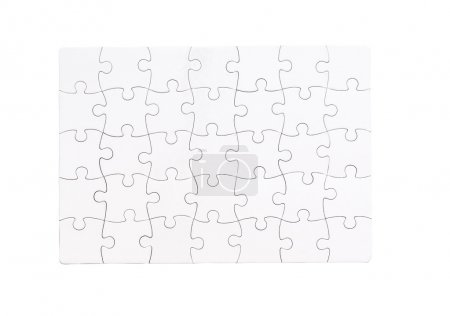 white completed puzzle
