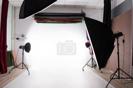 photostudio with lights on