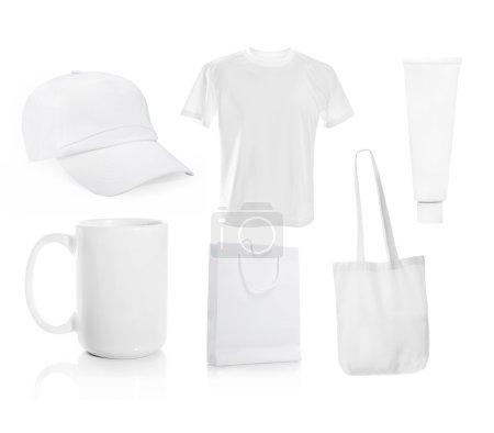 Set ot White blank objects