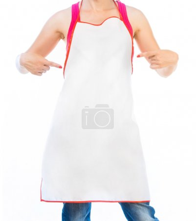 Photo for Woman in apron isolated on white - Royalty Free Image