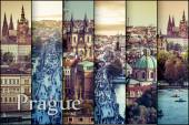 collage photo of a beautiful view of the old town in Prague