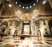 St. Peters Basilica in Vatican inside