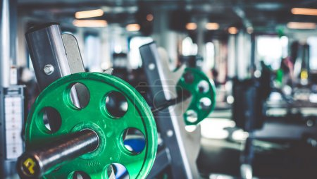 Photo for Rod with weights in the gym - Royalty Free Image