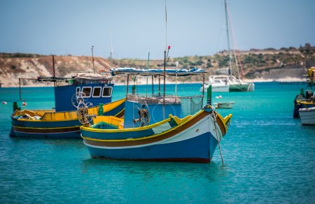 fishing boats near village of Marsaxlokk