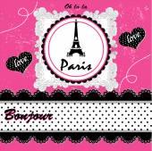 Karta Paris. vektorové ilustrace
