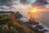 the rocky coasts of northern Spain