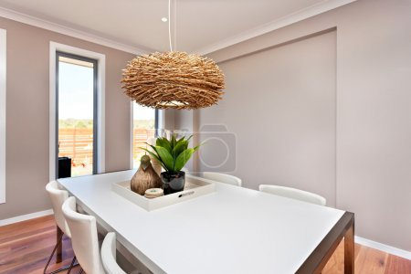 Dinning table and chairs are white color and class...