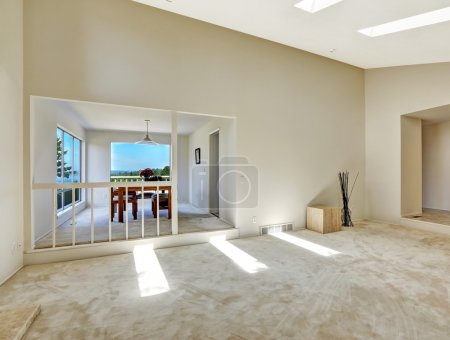 Dining and living room.  Floor plan in empty house
