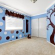 Beautiful baby room interior with cheerful murals ...