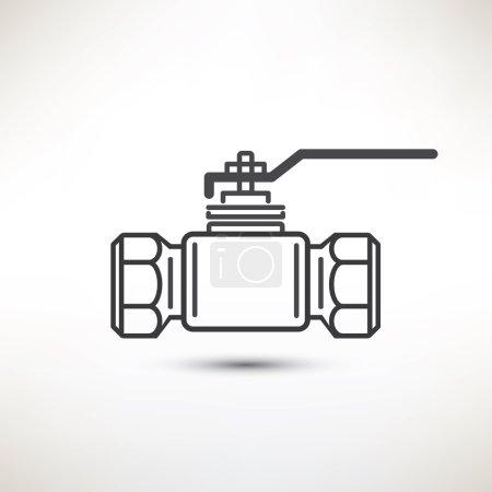 Illustration for Ball valve vector symbol - Royalty Free Image