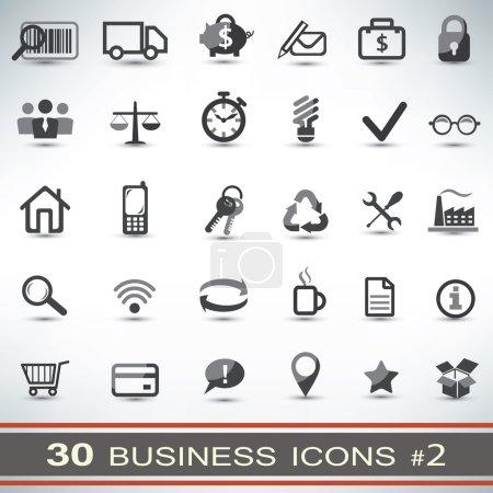 Illustration pour Ensemble d'icônes business 30 - image libre de droit