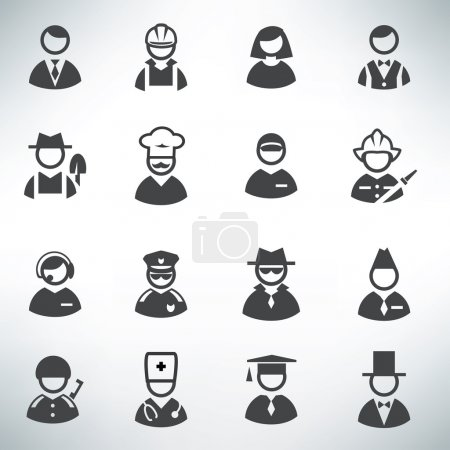 Photo for Profession icons vector set - Royalty Free Image