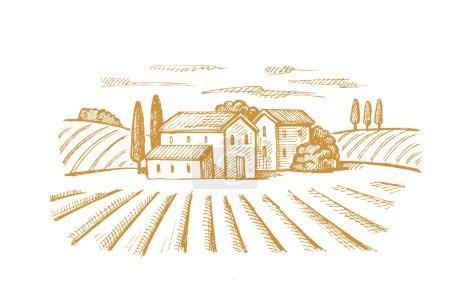 village et paysage