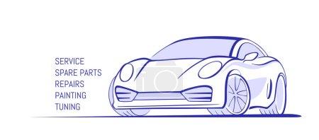 Illustration pour Concept de conception de logo de véhicule d'entreprise automobile - image libre de droit