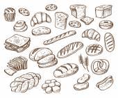 "Постер, картина, фотообои ""хлеб на белом фоне"""