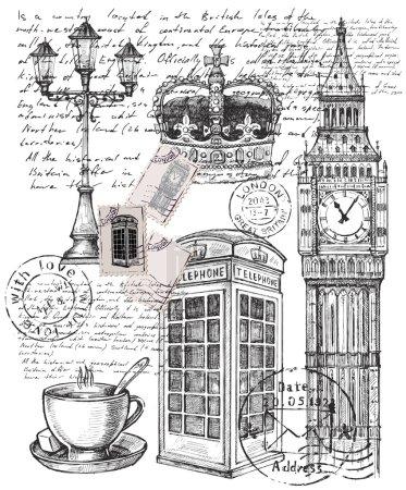 Illustration pour Illustration vectorielle dessinée à la main de grand britain - image libre de droit