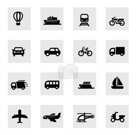 Photo for Vector black illustration of transport icon on white - Royalty Free Image
