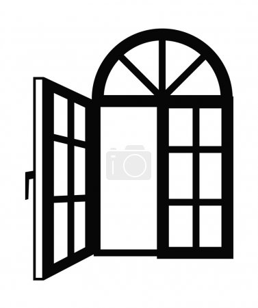 Illustration for Vector black Window icon on white background - Royalty Free Image