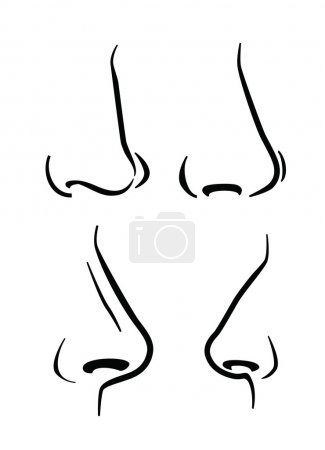 Illustration for Vector black nose icon on white background - Royalty Free Image
