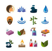 Vector color Spa icons on white background