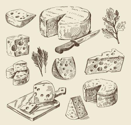 Illustration pour Vecteur dessiné à la main croquis alimentaire et gribouillage de cuisine - image libre de droit