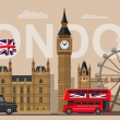 Vector color great britain and london icon set...