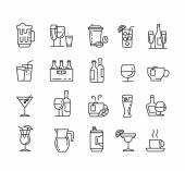 Plochá nápoje ikony