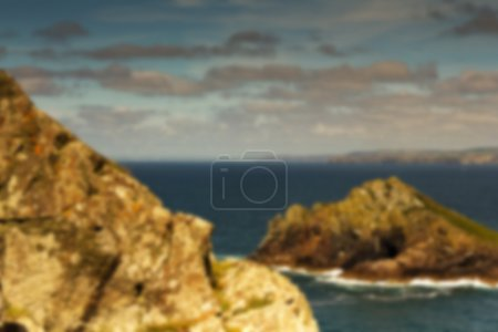 View from the costal path near Polzeath. Out of focus.