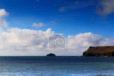 Beautiful view over the sea from Polzeath Out of focus.