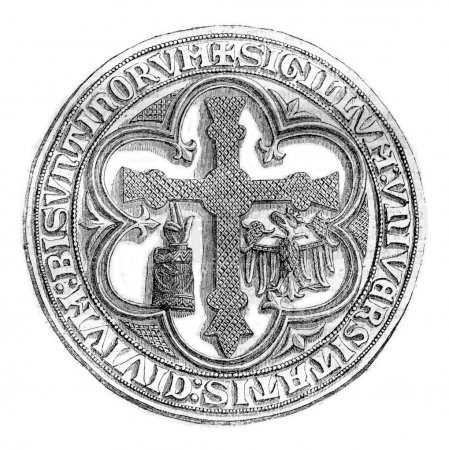 Great Seal of the town of Besancon, late thirteenth century, vin