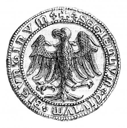 Small seal of the town of Besancon, beginning of the fifteenth c